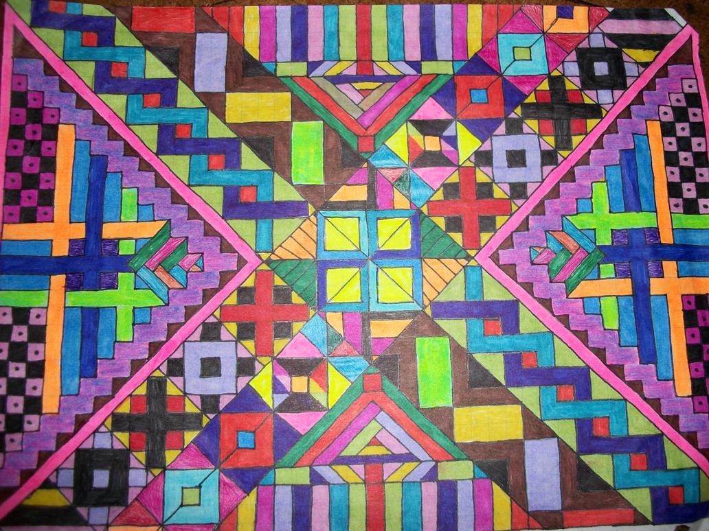 tribal patterns graph paper art 4 by lyla amnethyst on deviantart