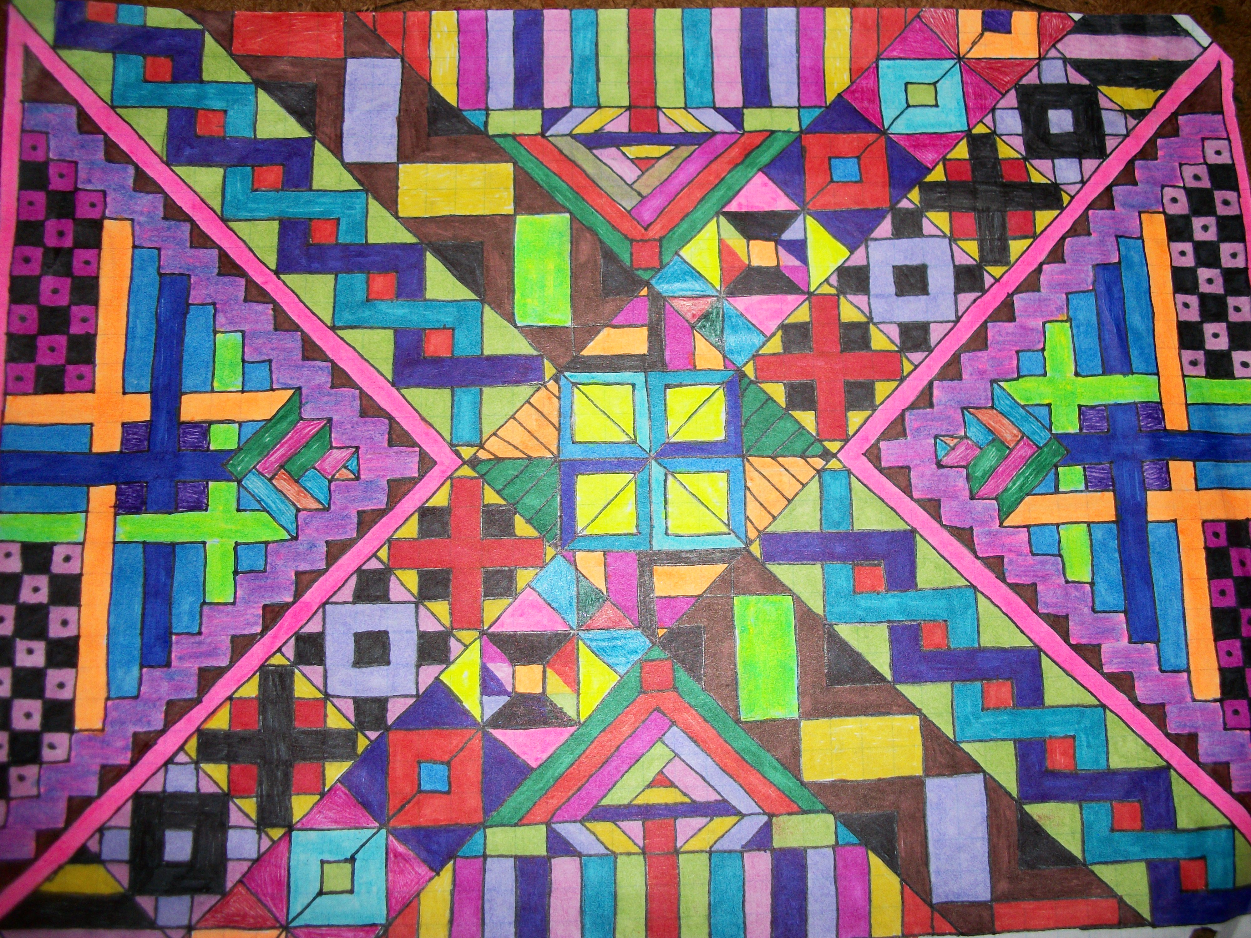 Tribal patterns graph paper art 4 by lyla amnethyst on for Cool designs on paper