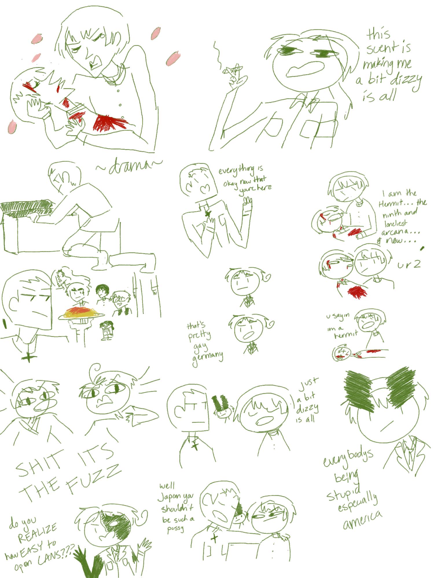 Dt Sketches by EverWerewolf