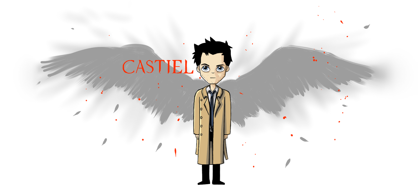 Castiel with Wings by Joy-Pedler