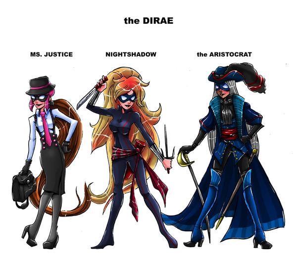 Team Girl Crimefighting Team - The Dirae by TeamGirl-Differel