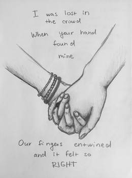 Our fingers entwined
