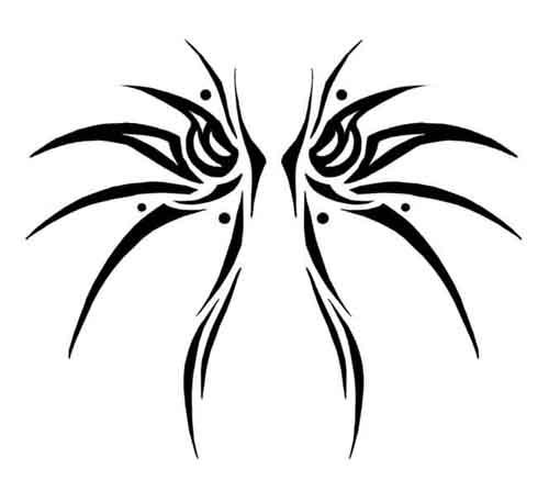 Dark Wings Tattoo Imag...