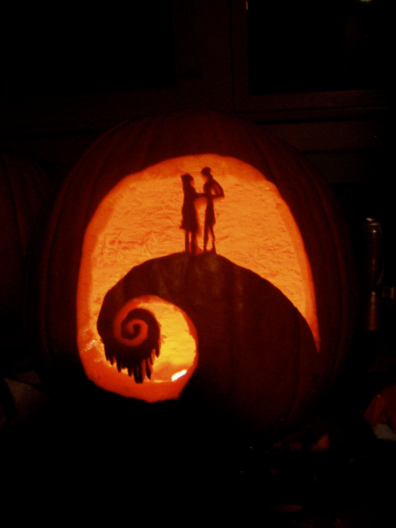 jack and sally pumpkin carving template - photo #32