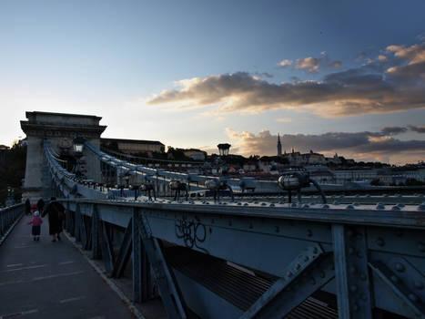 Budapest: evening and bridge