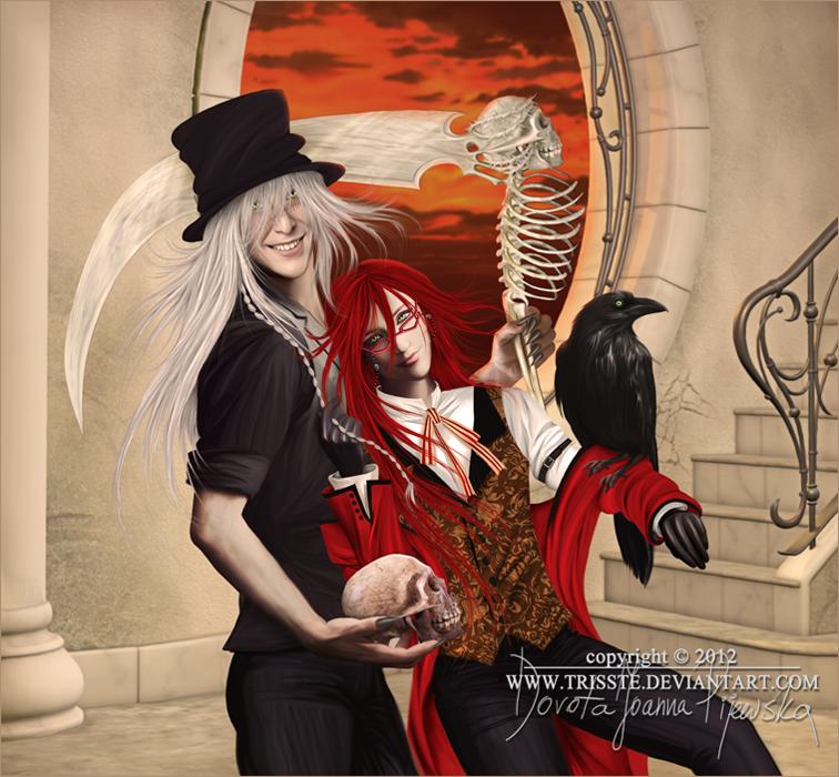 Kuroshitsuji - Undertaker And Grell by Trisste