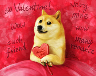 Doge - Wow! So Valentine! Much Love! Such Friend! by Trisste-stocks