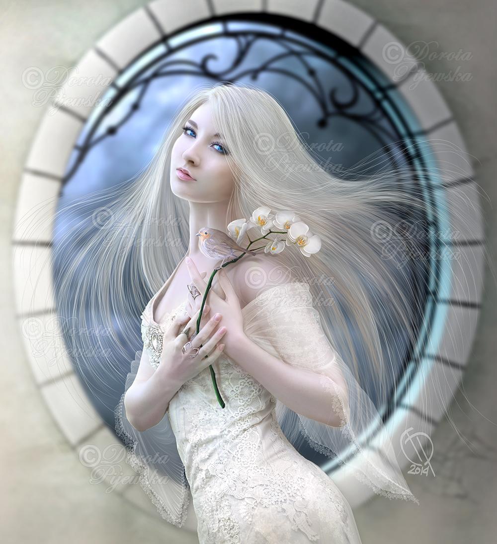 White Orchidea by Trisste