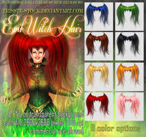 Evil Witch Hair by Trisste-stocks