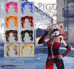 Pigtails hair STOCK