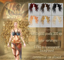 Windy Waves HAIR STOCK by Trisste-stocks