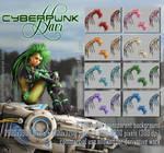 cyberpunk HAIR STOCK