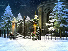 Winter Manor by Trisste-stocks