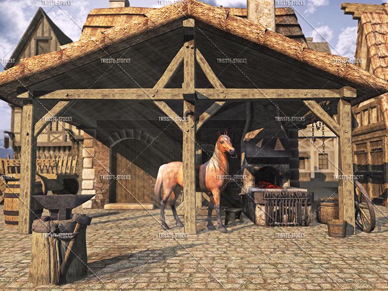 Medieval City Blacksmith #02 by Trisste-stocks on DeviantArt