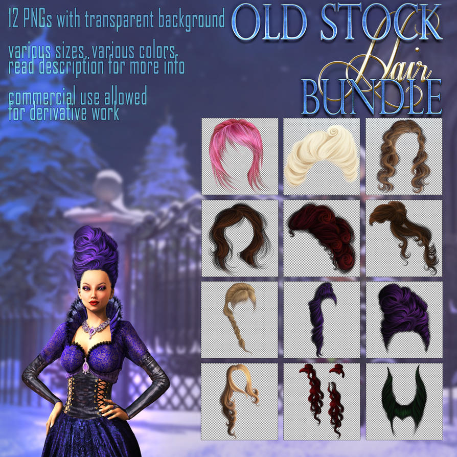 OLD HAIR STOCK bundle by Trisste-stocks
