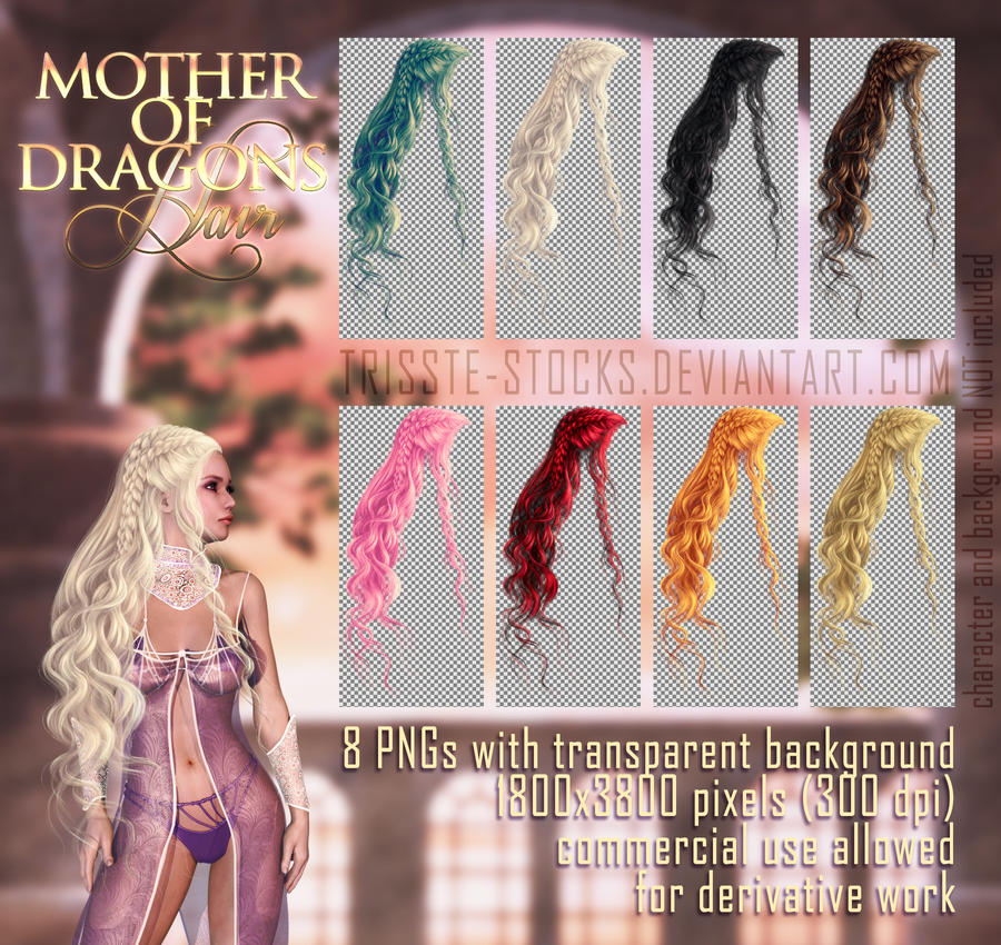 Mother Of Dragons HAIR STOCK
