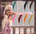 Mother Of Dragons HAIR STOCK by Trisste-stocks