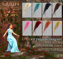 Queen Of Roses HAIR STOCK by Trisste-stocks
