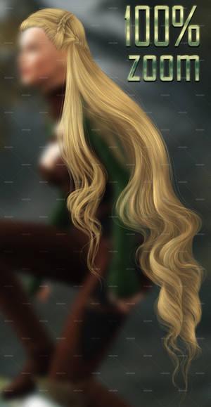 100% ZOOM - Long Elven HAIR STOCK