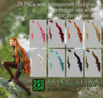 Long Elven HAIR STOCK