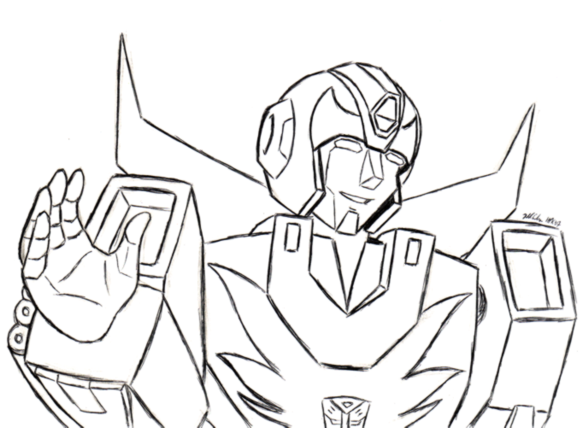transformer hot rod coloring page