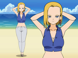 Android 18 by ConanRock