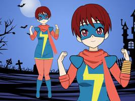 Vampire girl cosplay fun