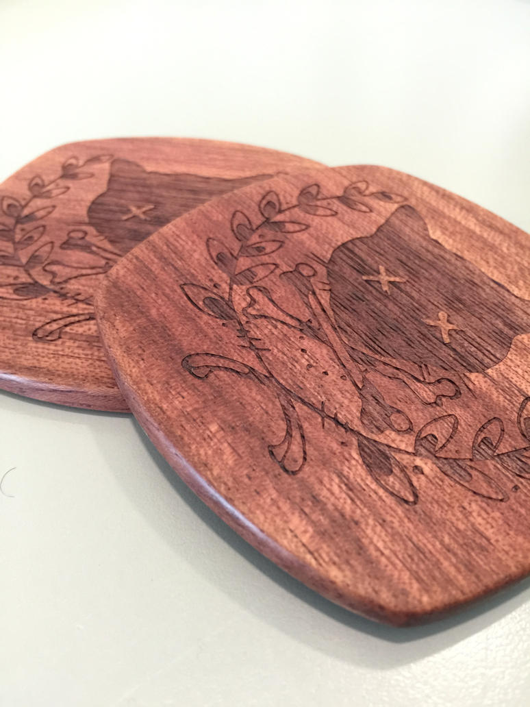 Custom Laser Engraved Coasters by Tim--the-Enchanter
