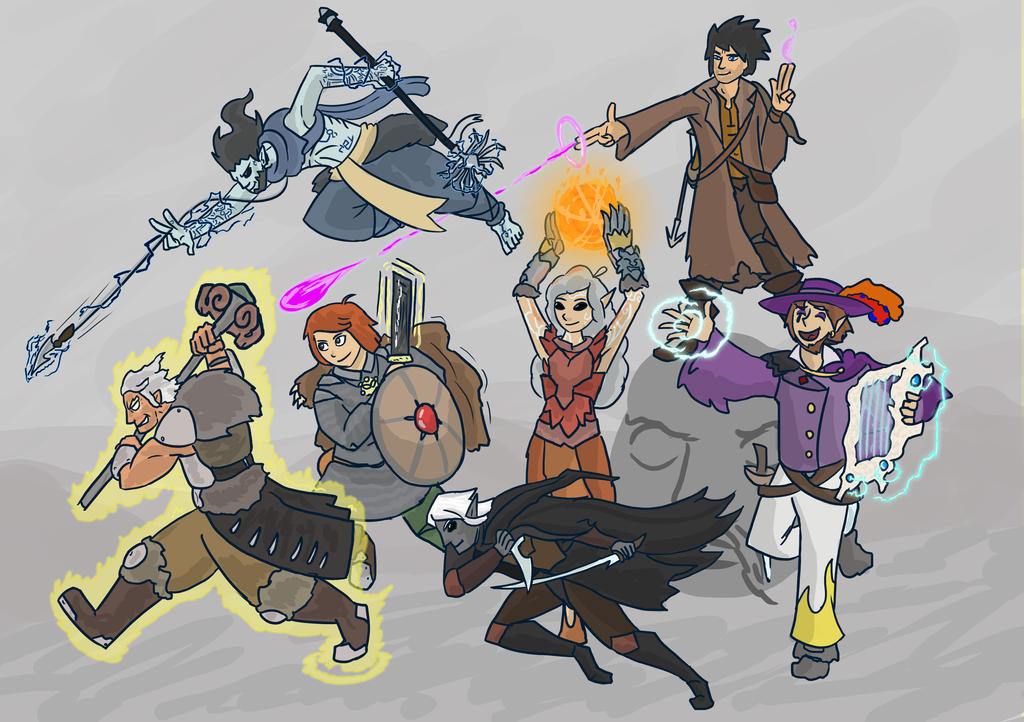 DnD- Giant Slaying Party by Reel123