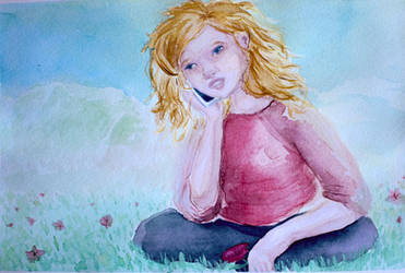 SPRING! - watercolor illustration