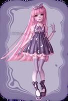 Cute moon dress by Courtney-S-Art