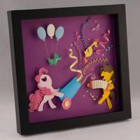 Pinkie Pie and Cheese Sandwich Shadow Box by elathera