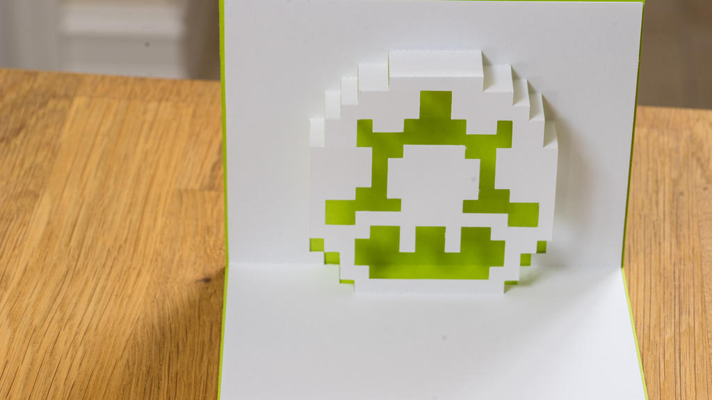 Mario 1-up Pop Up Card by elathera