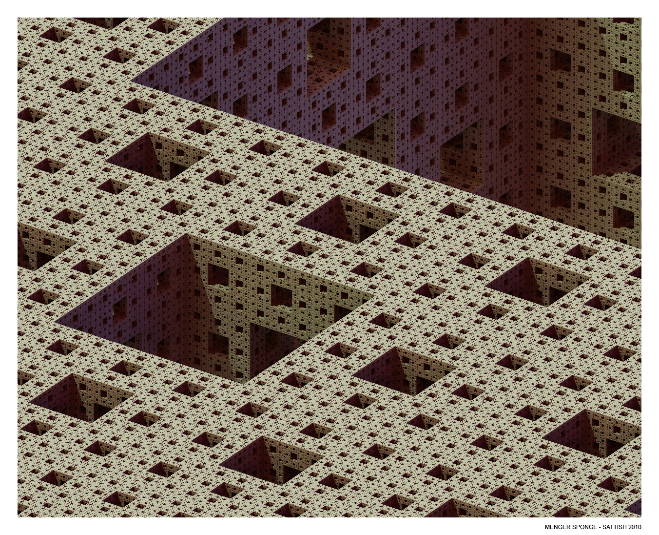 Menger Sponge by SATTISH