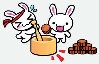 Mooncake Bunnies by littleworkshop