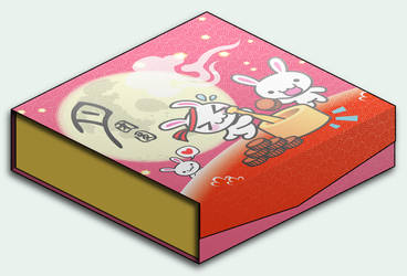 Bunny Mooncake Box by littleworkshop