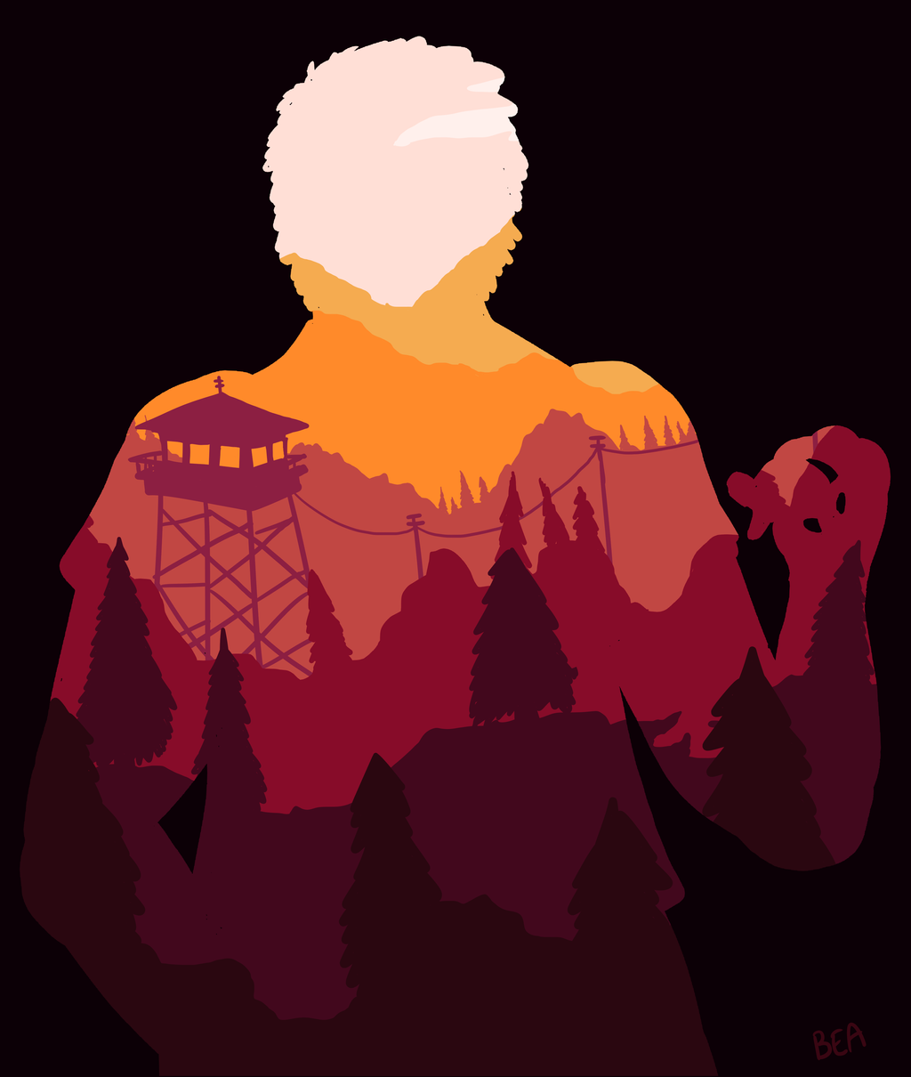 Firewatch Fan Art By Bea MAI