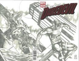 Daredevil#1 Sketch Variant Spread by Ace-Continuado