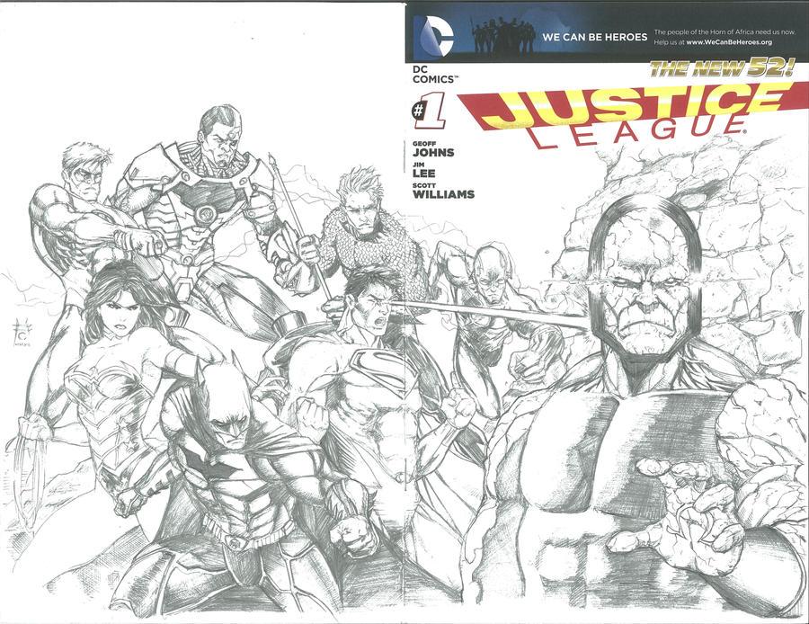 Justice League #1 Sketch Variant by Ace-Continuado