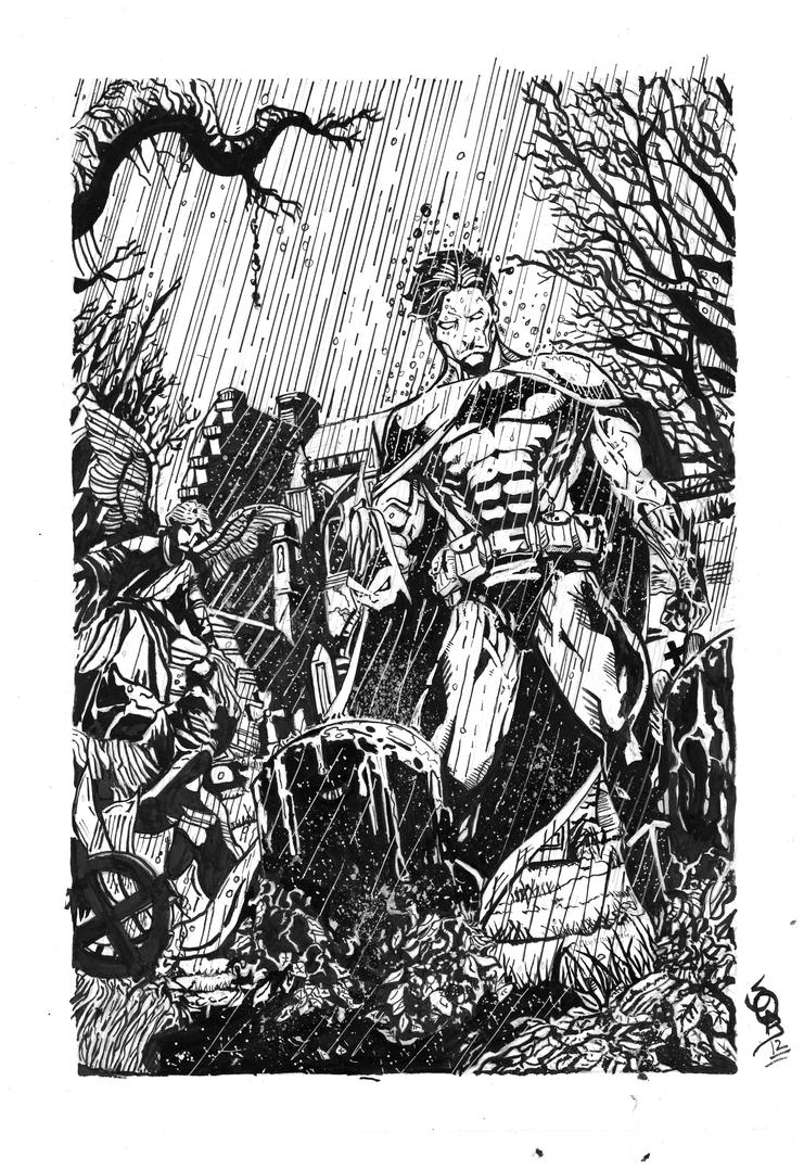 Batman Inked by John Wielder Sobie by Ace-Continuado