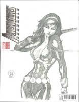 Avengers Sketch Cover: Black Widow by Ace-Continuado