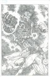 Thanos, Silver Surfer and Adam Warlock by Ace-Continuado