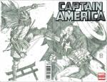 Shredder vs Captain America Commission. by Ace-Continuado