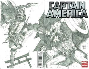 Shredder vs Captain America Commission.