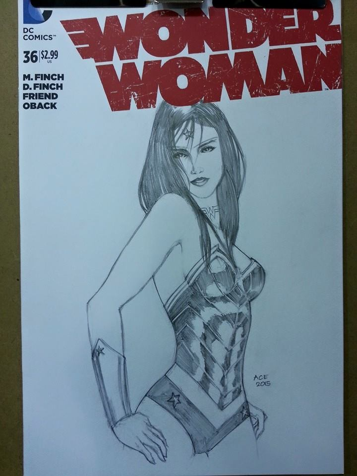 Wonder Woman commission sketch by Ace-Continuado