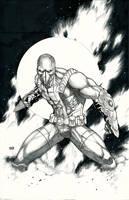 Guardian Knight Comics' Moon Streak inked by Ace-Continuado