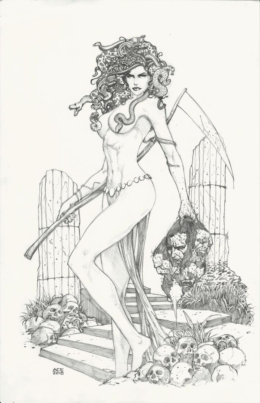 Medusa the Gorgon by Ace-Continuado