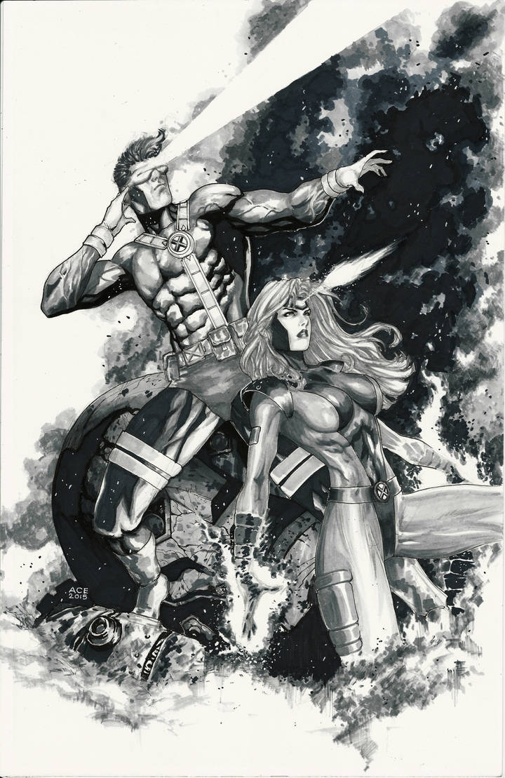 90's Cyclops and Jean Grey Commission by Ace-Continuado