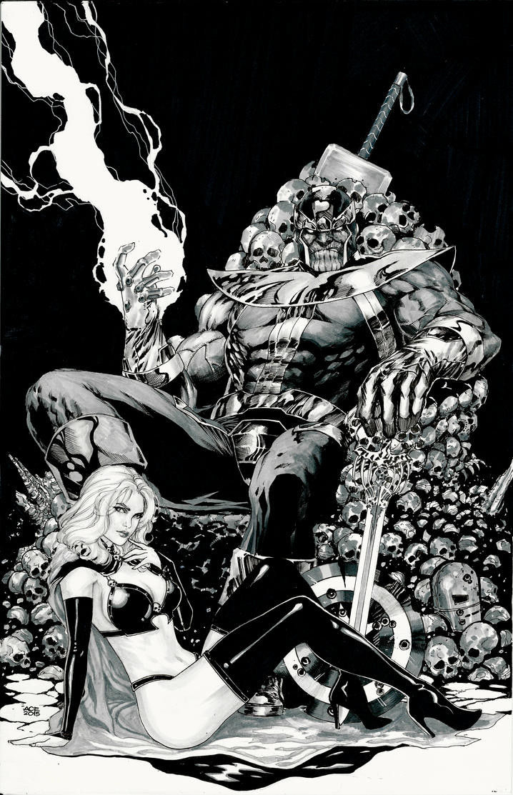 Thanos and Lady Death by Ace-Continuado