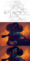 The Tifa Process by DanHowardArt